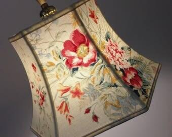 Bridge Lampshade-Downbridge Lamp Shade-Floral Lampshade-Shabby Chic-Laura Ashley Fabric-Hexagon Bell fabric shade