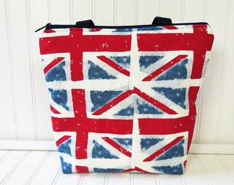 Lunch Bag - Union Jack - Lunch Tote Bag - Lunch Box - Lunch Tote Bag - Lunch Bag Kids -
