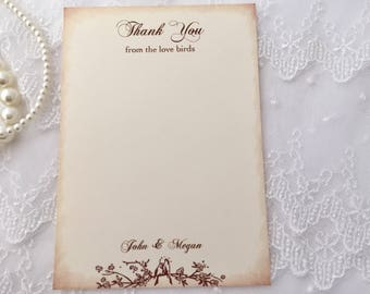 Wedding Thank You Cards, Love Birthday Thank You Cards, Set of 10