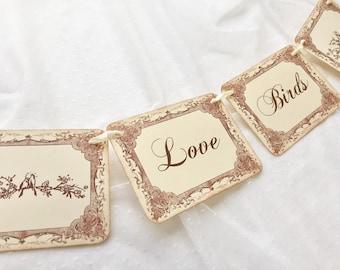 Love Bird Banner, Bird Banner, Wedding Bird Banner, Bird Garland