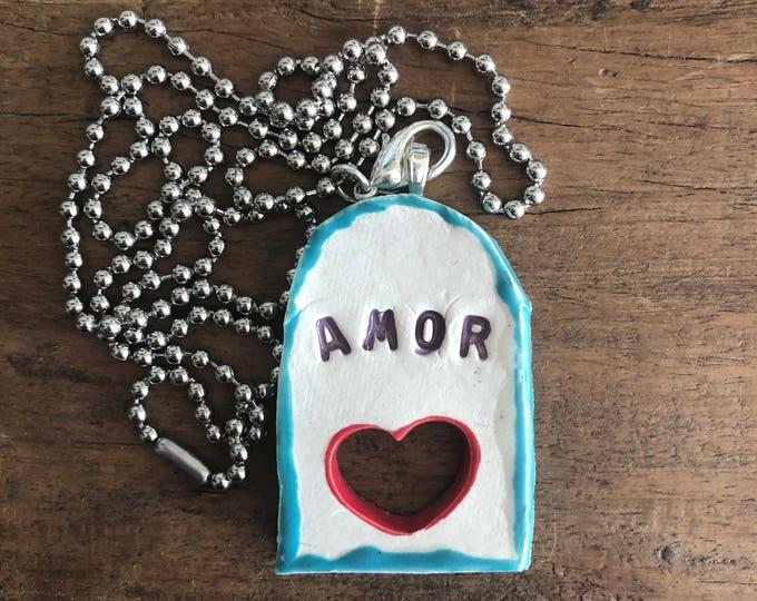 Ceramic Necklace - AMOR
