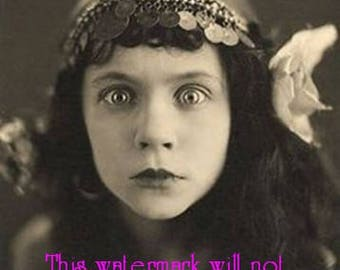 Old Vintage Antique Crazy Evil Eye Gypsy Photo Reprint