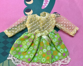 OOAK vintage dress for blythe dolls