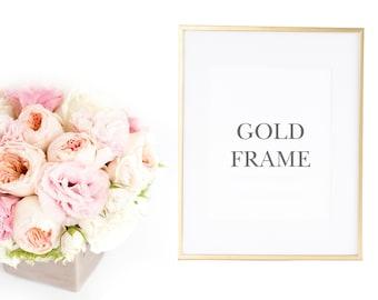 Gold Frame, Framed 8x10 Art Print in Gold Picture Frame