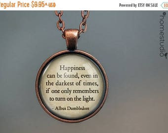 ON SALE - Dumbledore (Light) Quote jewelry. Necklace, Pendant or Keychain Key Ring. Perfect Gift Present. Glass dome metal charm by HomeStud