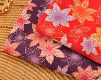 4460 - Japanese Maple Leaf Cotton Fabric - 43 Inch (Width) x 1/2 Yard (Length)