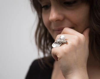 Elephant Ring - Realistic Elephant Ring - Silver Elephant Head - Elephant Jewelry - Animal Necklace - Animal Totem - Animal Jewelry