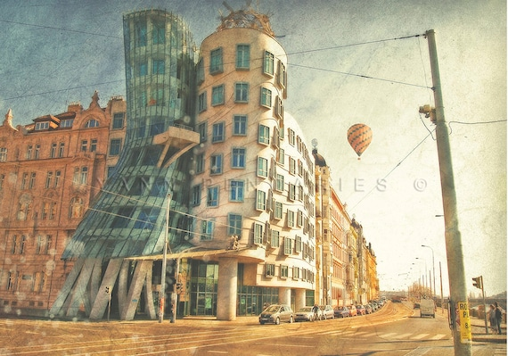 Modern art, Architectural print, Architecture art, balloon prints, hot air balloon, Wall art, travel decor, modern decor, air balloon decor