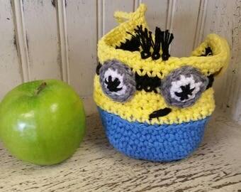 Apple Cozy - Minions Fruit Cozy, kids gift, teacher gift, fruit cozy, apple cozy,Lunch box, School,Minions, Minion