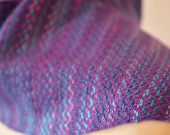 Hand woven and dyed tencel bamboo scarf