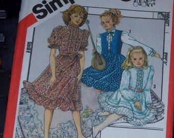 Christmas in July Vintage 1982 Childrens Cinderella Dress Pattern Girls Size 14 UnCut n 5729