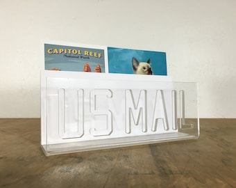 Clear Lucite US Mail Holder