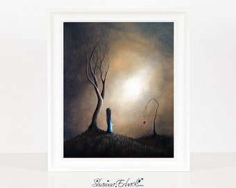 Your Memory Lives On In Me - Surrealism Art - Limited Edition Print - Fantasy Gift Idea - Signed by Artist - Erback Art - Landscape - Loss