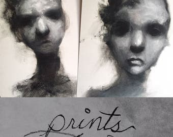 A set of two prints