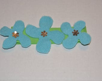Poppy Green Flower Headband