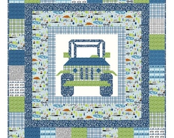 Off Road Quilt Pattern by Kelli Fannin Quilt Designs KFQP129