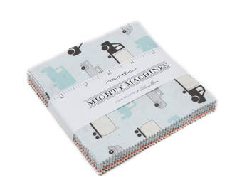 Mighty Machines (49020PP) by Lydia Nelson - Charm Pack
