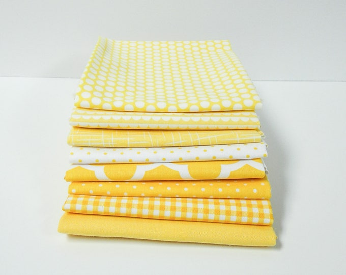 Featured listing image: Yellow Fat Quarter Bundle - 8 FQ's