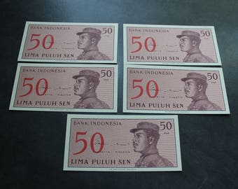 5 - 1964 Indonesia Bank Notes