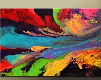 Abstract Canvas Art Painting 30x20  Contemporary Gallery Wrapped Canvas Art by Destiny Womack - dWo - A Cosmic Journey