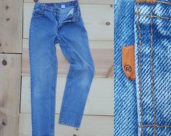 """Vintage Levi's 505 Jeans  //  Vtg 90s Levis Distressed Student Fit Stone Wash Denim Jeans //  26.5"""" waist"""