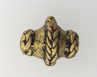 OnSale Vintage African Brass Bead Very Rare probably Ashanti
