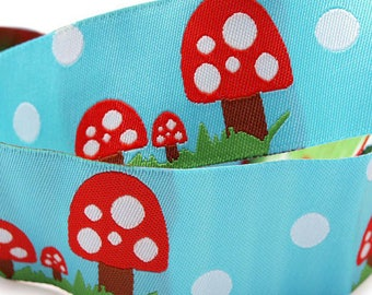 3 Yards Cheerful Mushroom Polka Dot Trim Ribbon 30mm Wide BD M