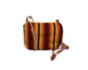 date purse  • honduran textile - crossbody bag • handwoven honduran textile - honduras - waxed canvas - gifts under 50 - simple cross body
