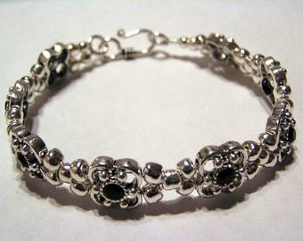 Crystal and Purple Bracelet