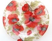 Poppy clear glass dish, h...