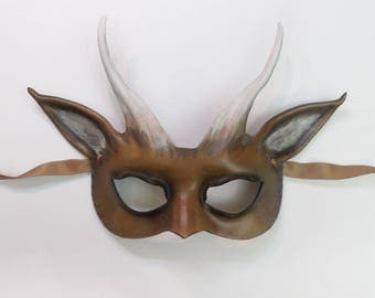 Goat Leather Mask a smaller and very light version of my bigger Goat masks great for smaller and average adult size