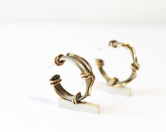 1980s Avant Garde Cuff Stud Earrings