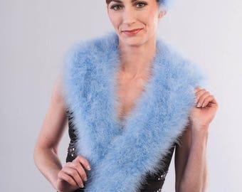 Promo Sale: Light Blue Marabou Wrap - Collar - Shrug