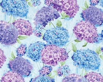 Hydrangea fabric | Etsy : hydrangea quilt fabric - Adamdwight.com