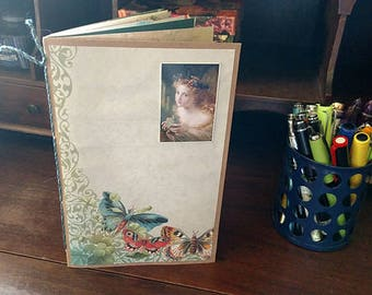 Butterfly Junk Journal Decorated Pages Daybook Notebook Scrapbook Mini Album
