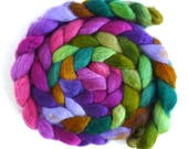 Special Listing for Snowkcorral: 3, BFL Wool Roving - Hand Painted Spinning or Felting Fiber, Alice W.