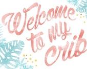 Custom Welcome to my crib wall art
