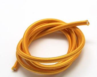 1 m elastic cord - sandow - 4.5 mm - saffron yellow