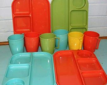 Vintage Plastic Plates and Cups Vintage Colonial Plastics MFG Co Plastic Plates and Cups Cleveland Ohio