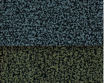 """Sale! 2 Marimekko  17"""" square remnants Kvartsi cotton sateen metallic gold and silver on navy - each remnant is 17"""" x  17"""""""