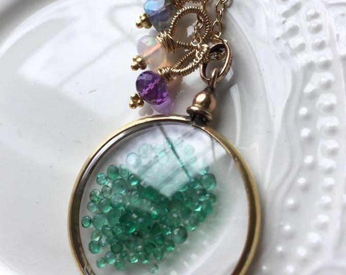 Featured listing image: Acrostic Jewelry Emerald Shake Locket