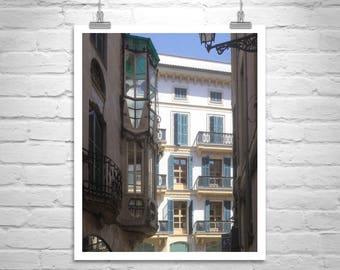 Window Art, Majorca, Spanish Architecture, Palma, Spain, Architecture Art, Travel Photography, Mallorca, Mediterranean Sea, Fine Art Print