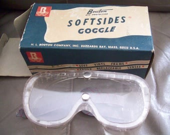 """Vintage """"Softsides"""" Safety Goggles in original box"""