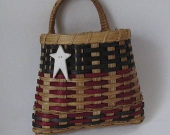 Handwoven Basket, Americana Wall Basket