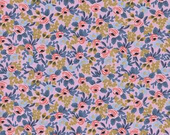 Presale - Rosa Violet Metallic  - Menagerie - Anna Bond Rifle Paper Co - Cotton + Steel - 8004-04