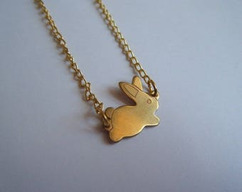 Mr. rabbit gold ♥ ♥ necklace ♥♥♥♥