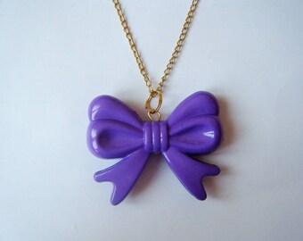 Violet ♥ ♥ bow pendant