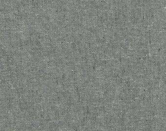 Essex Linen Fabric Yarn Dyed Cotton, EO64-GRAPHITE Graphite, Yardage, Robert Kaufman