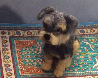 Custom Dog portrait soft Sculpture needle felted pet replica miniature animals