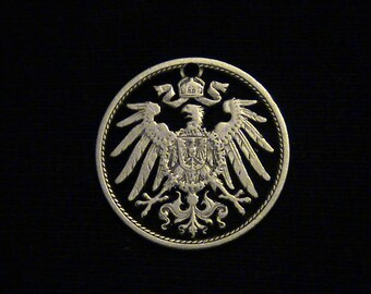 Germany - cut coin jewelry - 1904 - Imperial Eagle - MY FAVORITE